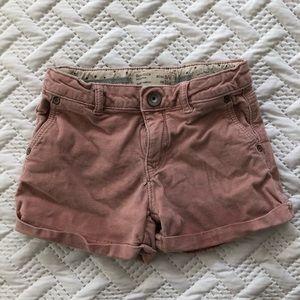 Zara Pink Toddler Shorts